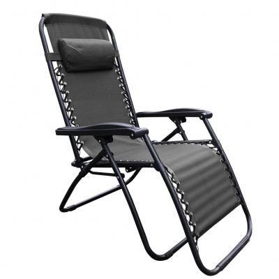 Kerti fotel, állítható, fekete - AU SOLEIL
